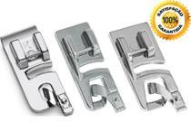 03 Sapatas Calcador Sapatilha Bainha Enrolada 2mm 3mm E 4mm - Evolvere