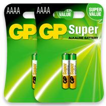 04 Pilhas AAAA Alcalina GP SUPER 2 cartelas - Gp Batteries