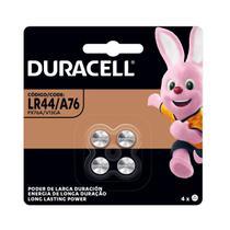 04 Pilhas Baterias LR44 A76 Ag13 Alcalina DURACELL 1 cartela -