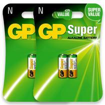04 Pilhas GP SUPER TIPO N LR1 Bateria Alcalina 2 cartela - Gp Batteries