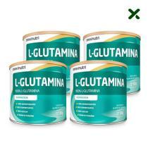 04 Suplemento Aminoácido L-Glutamina Pó 300g 100% Pura Loja Maxinutri -