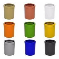 04 Un. Lixeira  Em Plástico Com Aro 12 Litros Home Ou Office - JSN