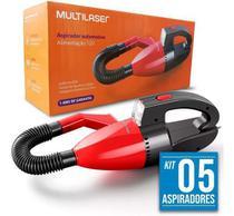 05 Mini Aspirador Portatil Po E Agua Líquido Carro 12v. - Multilaser