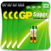 08 Pilhas AAAA Alcalina GP SUPER 4 cartelas - Gp Batteries