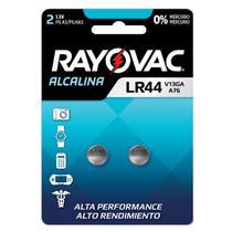 08 Pilhas Baterias Lr44 A76 Ag13 Alcalina Rayovac 4 Cartelas -