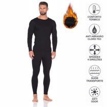 1 Calça + 1 Blusa Camisa 2 Pele Roupafrio Térmica Kit Viagem Masculino Tamanho G - Hangar Extreme