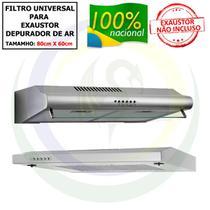 1 Filtro Universal 80cm x 60cm para Exaustor / Depurador de Ar - V.M. Indústria e Comércio