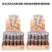 1 kit 96 Base líquida Ruby Rose Natural Look Bege 2 ao 8 29ml HB - 8051 -