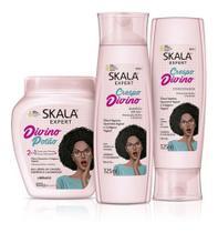 1 Kit Skala Crespo Divino Shampoo+condicionador+creme de tratamento -