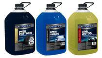 1 Limpa Vidros 1 Pneu Pretinho E 1 Shampoo Lava Auto Xampu - Vonixx