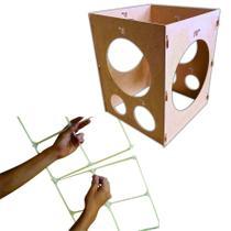 1 Medidor De Balões + 1 Kit De Tela Magica Para Bexigas - Jjveras