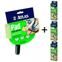 1 Pad Pintura Decks, Paredes, Piso E Madeira Atlas + 3 Refis -