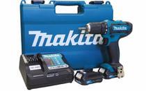 """1 Parafusadeira Furadeira de Impacto 3/8""""  2 Baterias 12V Lítio-íon e Maleta - MAKITA-HP331DWYE -"""