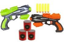 1 Pistolas Lança Dardo Arminha de Brinquedo + 3 Alvos - 99 Toys
