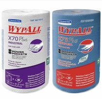 1 Rolo Pano Wiper Wypall X70 e 1 Rolo X75  Kimberly Clark - Kimberly-Clark