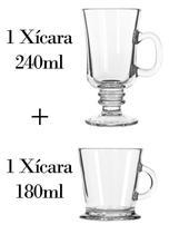 1 Xícara 240ml + 1 180ml - Caneca nespresso - Crisal