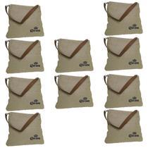 10 Bolsas Corona Bag Multiuso com 2 Bolsos Externos e Alça em Couro - Ambev