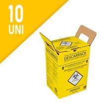 10 Caixas Coletores 3L Perfurocortante Agulha Descarpack -