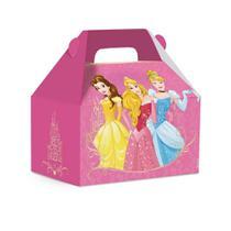 10 Caixas Maleta Kids Surpresa Princesas Disney Rosa 15X10Cm - Cromus