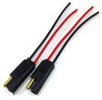 10 Conector 2 Vias com Fio 1,5 mm Chicote Plug Para Caixa - Permak