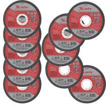 10 Discos de Corte inox ferro 4 Polegadas mtx -