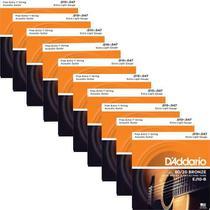 10 Encordoamentos Violão Aço Daddario .010 80/20 EJ10 -