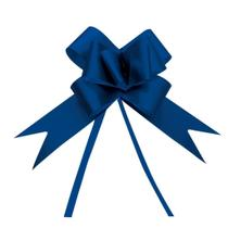 10 Laços Gravata Embalagem Presente Fita 12Mm Acetina Azul - Cromus
