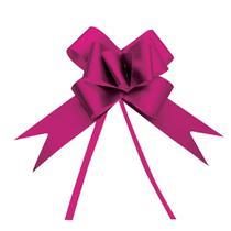 10 Laços Gravata Embalagem Presente Fita 12Mm Acetina Pink - Cromus