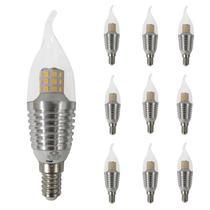 10 Lâmpadas Led Vela Para Lustre 5W E14 Quente 3000K Bivolt - Cbc Luminárias