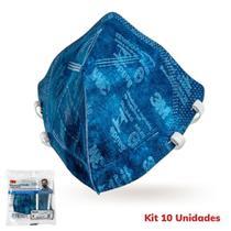 10 Máscaras 3m Pff2  9820 Proteção Respiratória Selo Anvisa  e Inmetro -