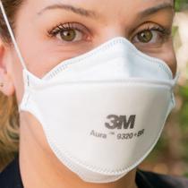 10 Máscaras pff2(n95) 3M Aura 9320 +br com espuma no clipe nasal para vedação e conforto CA: 30592  - 3M BRASIL