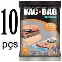 10 Saco Vácuo Grande Organizador Roupa Vac Bag 55 X90 Ordene -