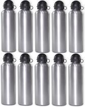 10 Squeeze Sublimação Garrafa Aluminio Prata 500ml - Nm