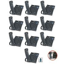 10 Telefone Fixo C/ Fio Chave escritório consultório empresa - Intelbras