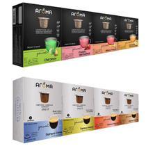 100 Cápsulas Para Nespresso - Degustação Café E Chá - Cápsula Aroma -