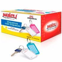 100 Chaveiros Organizadores de Chaves c/ Etiquetas Coloridas - Waleu