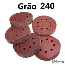 100 Discos Lixa com Vel. Cro para Lixadeira Orbital - 125 Mm Diversos Grãos - Fertak -