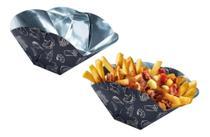 100 Embalagens tipo Cesta  Metalizadas P/ Porções, Batata Frita, Torresmo, Mandioca - Personal Shade