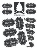 100 Etiquetas Adesivas Porta Tempero Organizador De Alimento - Calvimix