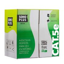 100 Mts Cabo Rede Lan Utp Cat5e Caixa Furukawa Soho Plus - Furukawa /Soho Plus
