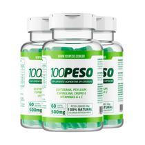 100 PESO - Tratamento para 90 dias - 3 Frascos com 60 caps cada - Vitabe