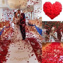 100 Pétalas De Rosas Artificiais Vermelha Casamento Noiva - Lhamaeu