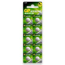 100 Pilhas Baterias Lr44 A76 Ag13 Alcalina Gp 10 Cartelas - GP BATTERIES