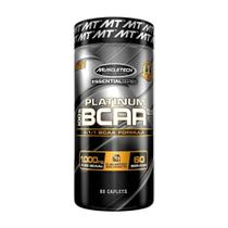 100% PLATINUM BCAA (60 Cápsulas) - Muscletech -