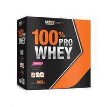 100% Pro Whey Voxx 900g - Morango - Voxx Suplementos -