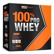 100% PRO WHEY VOXX SUPLEMENTOS - SABOR CHOCOLATE - 900g - CIMED -