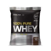 100% Pure Whey - 1 Sachê 33g Chocolate - Probiotica - Probiótica -