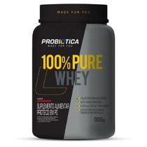 100% pure whey - pote - 900g - morango - Synthesize