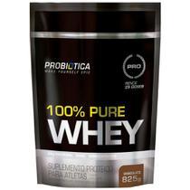 100% Pure Whey Protein Refil 825G Chocolate - Probiótica -