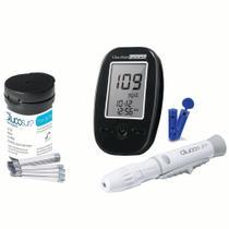 100 Tiras Para Glucosure + Kit Completo Glucosure - Hc160 - Multilaser